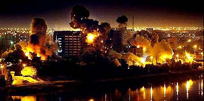 Iraq Baghdad Night Bombing